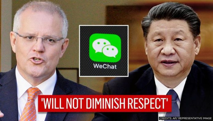 Chinese official says Morrison overreacted to 'repugnant' social media post
