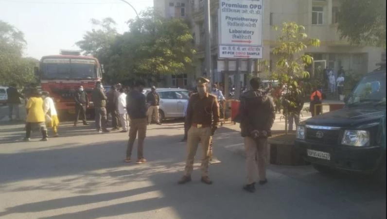 Bomb Spotted in Kailash Hospital Noida sec 27   22 January 2021