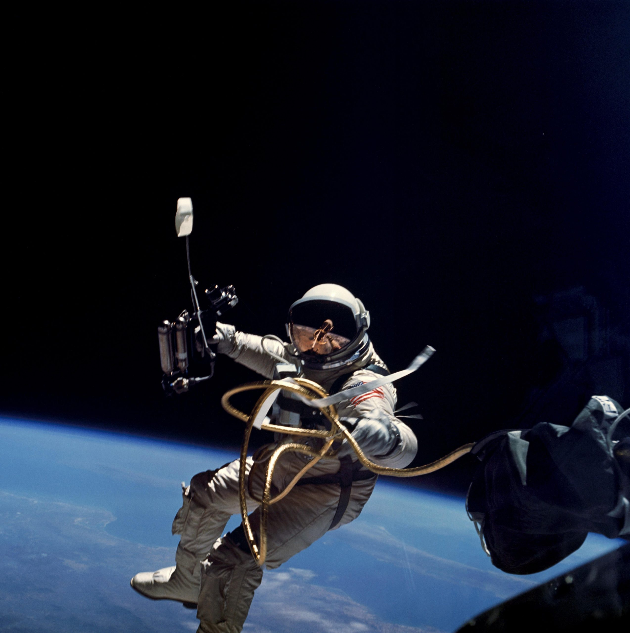 Astronaut Edward White Becomes American First Man To Walk In Space