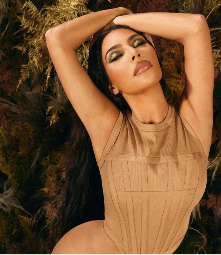Hot Kim Kardashian Poses with Nude Shade Bikini for KKW Beauty launch