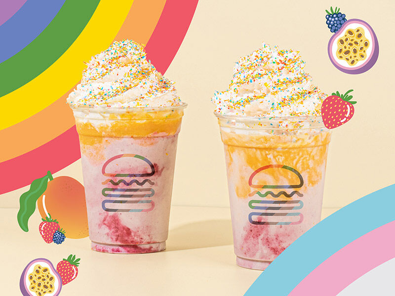 Shake Shack Creates Rainbow shakes for supporting LGBTQ this June 2021