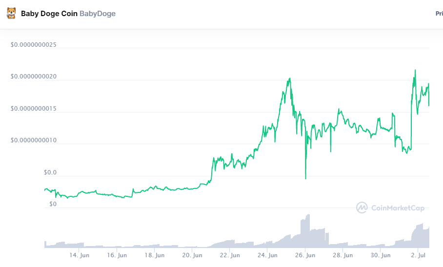 Will Baby Doge Reach $1? to The Moon? Or Not?